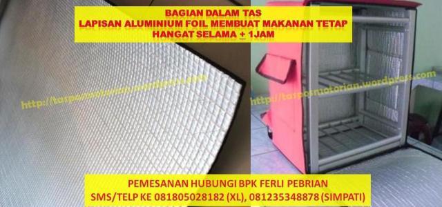 Tas Ransel Delivery Motor Aluminium Foil
